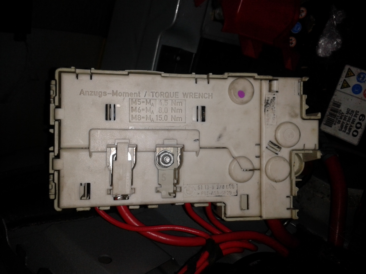 E39 Boot Fuse Box : Bmw e i voltage regulator fuse box